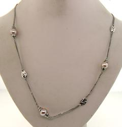 Le Vian Beaded Necklace in Sterling Silver