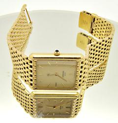 18 KT YELLOW GOLD CONCORD WATCH.