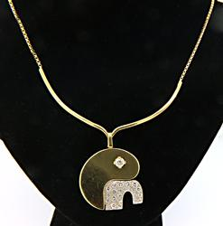 18kt Yellow Gold & Diamond Pendant Necklace