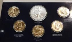 2012 Mint Uncirculated Dollar Set, w/ Silver Eagle