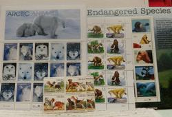 Animals: Endangered, etc. stamp sheets, $17.75 face