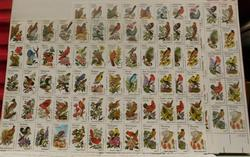 State Birds, 3 stamp sheets, some alterations, $30.00