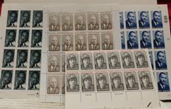 Black Heritage stamp sheets:  Malcolm X, etc  $23.04