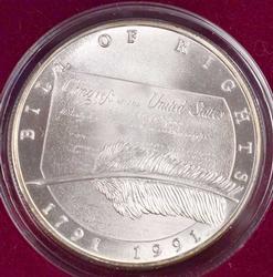 1991 Chrysler Fine Silver 1 oz Patriotic Round