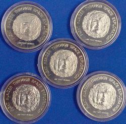 Liberia 1996 $50 Coins, KM 410.1