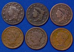 6 Large Cents, Estate Lot