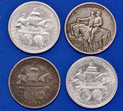 4 x US Commem Silver 50c Lot, Estate