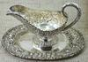 Hand Chased Stieff Gravy Boat and Tray