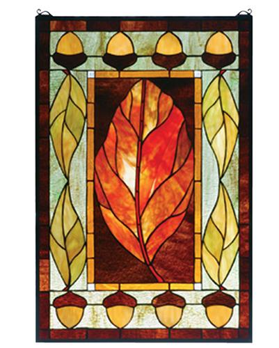 Colorful Harvest Festival Designed Stained Glass