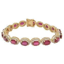 Lovely 18+ctw Ruby Bracelet