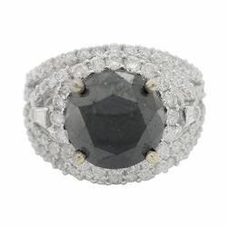 Versatile 4.01ct. Black Diamond Ring