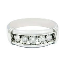 Gents Channel Set Diamond Ring in 14KT Gold