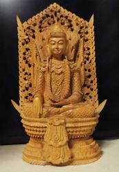 Hand Carved Sandalwood Cambodia Buddha - Masterpiece
