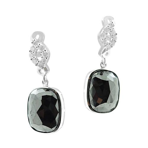 Fancy 11.17ctw. Black Diamond Earrings