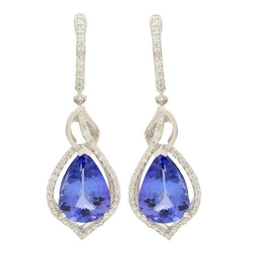 Appealing Tanzanite Earrings in Platinum