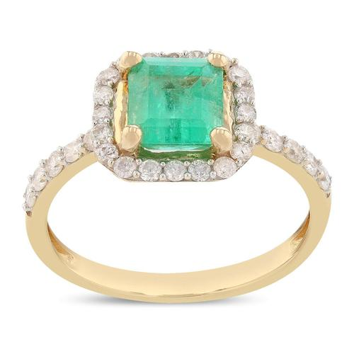 Scintillating Emerald & Diamond Ring