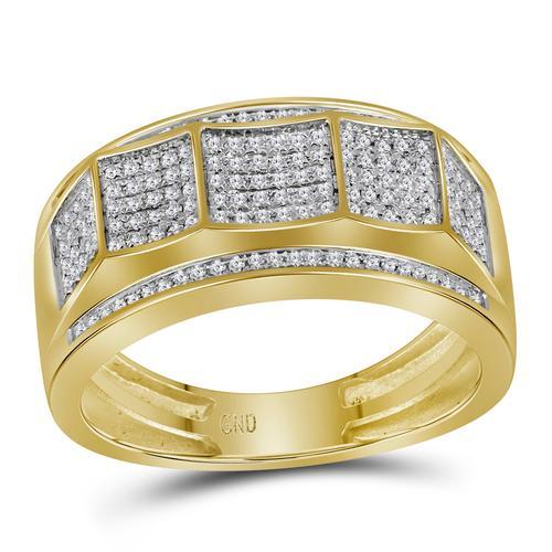 10KT Gold Gent Diamond Band