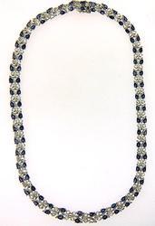 Tanzanite & White Topaz Sterling Silver Necklace