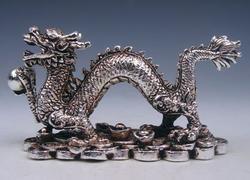 Tibetan Crafted Dragon Pearl Ball Coins