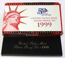 1996 and 98 US Silver Proof Sets in original govt packaging