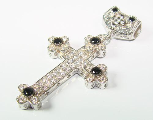 Charming Byzantine Design Rhodium Plated 925 S. Cross