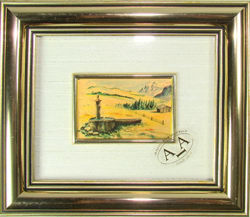 Italian Handcrafted Collectible Cert. Gold Leaf Scenery