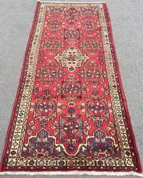 Enchanting 1960s Authentic Handmade Vintage Persian Meshg-Abad