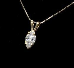 Top-Quality VS E-F Color Marquise Diamond Pendant