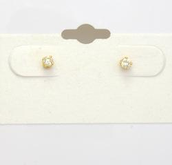 Petite Diamond Stud Post Earrings in Gold