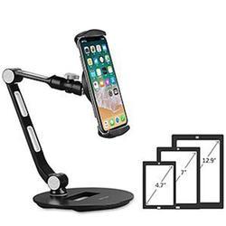 Aluminum Tablet Phone Stand Folding 360 Swivel Desk