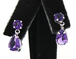Vibrant Amethyst Dangle Earrings