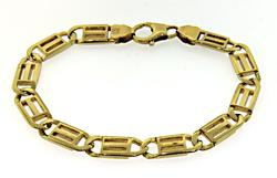 Gents Nice Weight Yellow Gold Bracelet