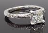 GIA Certified Princess Cut Diamond Ring