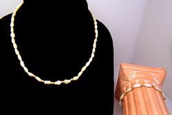 Excellent Natural Pearl Choker and Bracelet Set