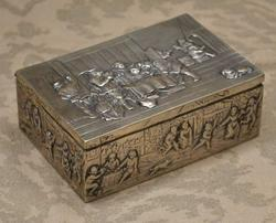 German .800  Silver Ornate  Collectors Box