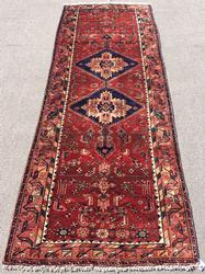 Lovely Mid-20th C. Authentic Armenian Weave Vintage Talesh, Dated