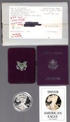 1988 American Proof Silver Eagle in Original Packaging