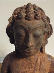 Antique Cambodian Blessing Buddha Statue