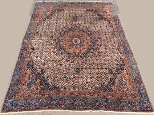 Highly Intricate 1950s Authentic Handmade Vintage Persian Moud