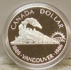 1986 Canada PROOF Silver (50%) Dollar - Vancouver