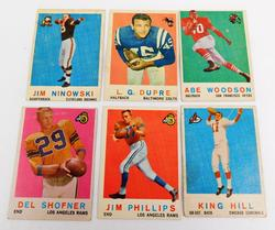 6 Topps 1959 Football Cards - 2 Rams!