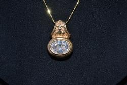 Sterling Silver & Gemstone Pendant Necklace
