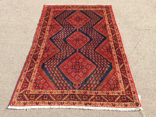 Enchanting 1950s Authentic Handmade Nomadic Vintage Persian Qashqai
