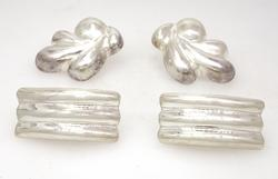 Two Pairs of Large Statement Sterling Earrings