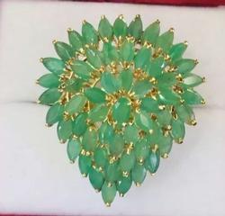 10 Carat Emerald & 14kt Gold Cocktail Ring