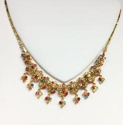 Beautiful 14kt Gold Sapphire Necklace