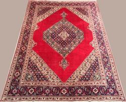 Delightful 1950s Fine Authentic Handmade Vintage Royal Persian Kerman
