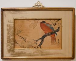 Colorful Bird Japanese Block Print