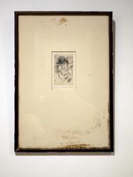 Vintage engraving of a man