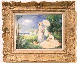 Original Oil on Canvas By E. Villiere